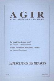 Revue Agir N.4 ; La Perception Des Menaces - Intérieur - Format classique