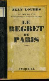 Le Regret De Paris - Couverture - Format classique