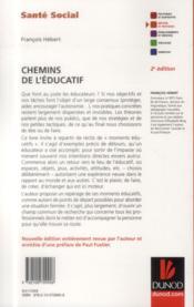 Chemins de l'éducatif (2e édition) - 4ème de couverture - Format classique