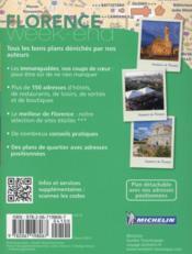 Le guide vert week-end ; Florence - 4ème de couverture - Format classique