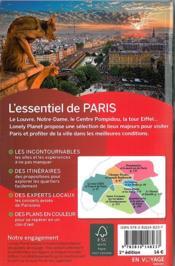 L'essentiel de Paris - 4ème de couverture - Format classique
