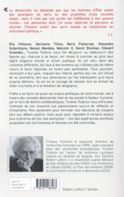 Insoumis - 4ème de couverture - Format classique