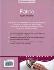 Patine ; esprit brocante - 4ème de couverture - Format classique