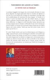 Concurrence des langues au Gabon : le yipunu face au français - 4ème de couverture - Format classique