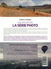 Les secrets de la série photo ; démarche, cohérence, impact - 4ème de couverture - Format classique