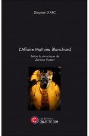 L'affaire Mathieu Blanchard - Couverture - Format classique