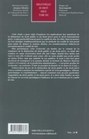 La distinction du droit public et du droit privé et le conflit de lois - 4ème de couverture - Format classique