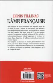 L'âme française - 4ème de couverture - Format classique
