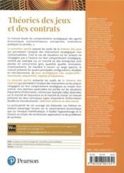 Microéconomie ; théorie des jeux et contrats - 4ème de couverture - Format classique