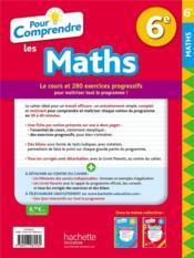 Pour comprendre les maths ; 6e - 4ème de couverture - Format classique