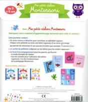 Mes petits ateliers Montessori ; mes petites lettres rugueuses - 4ème de couverture - Format classique