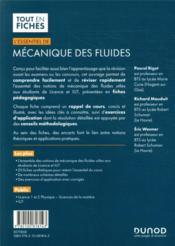 L'essentiel de mécanique des fluides ; licence, IUT - 4ème de couverture - Format classique