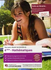 Tout pour réussir sa rentrée en 4ème ; mathématiques - Intérieur - Format classique