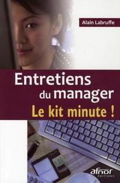 Entretiens du manager, le kit minute ! - Intérieur - Format classique
