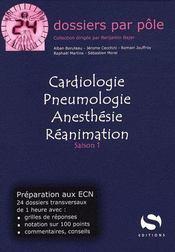 Cardiologie, pneumologie, anesthésie, réanimation ; préparation aux ECN ; saison 1 - Couverture - Format classique