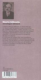 Maurice Halbwachs, sociologue retrouvé - 4ème de couverture - Format classique