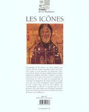 Icones (Les) - 4ème de couverture - Format classique