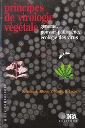Principe de virologie végétale ; génome, pouvoir pathogène, écologie des virus - Intérieur - Format classique