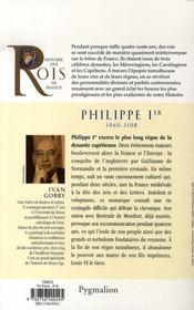 Philippe Ier ; 1060-1108 ; père de Louis VI - 4ème de couverture - Format classique