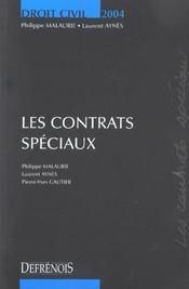 Droit civil les contrats speciaux - Intérieur - Format classique