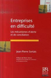 Entreprises en difficulté ; les mécanismes d'alerte et de conciliation - Intérieur - Format classique