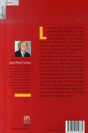 Entreprises en difficulté ; les mécanismes d'alerte et de conciliation - 4ème de couverture - Format classique