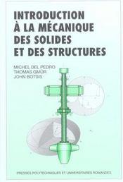 Introduction a la mecanique des solides et des structures - Intérieur - Format classique
