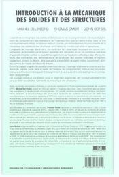 Introduction a la mecanique des solides et des structures - 4ème de couverture - Format classique