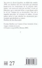L'Enigme - 4ème de couverture - Format classique