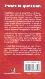 Livre des questions ? (le) - 4ème de couverture - Format classique