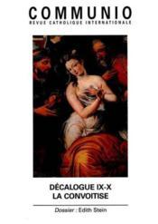 REVUE COMMUNIO N.148 ; décalogue IX-X ; la convoitise - Couverture - Format classique