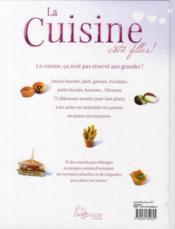 La cuisine côté filles - 4ème de couverture - Format classique
