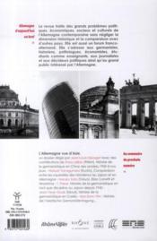 Revue Allemagne D'Aujourd'Hui N.194 ; Présence De La République Fédérale Dans La Rda Des Années 1980 (Octobre/Décembre 2010) - 4ème de couverture - Format classique