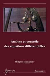 Analyse et contrôle des équations différentielles - Couverture - Format classique