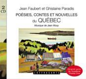 Cd poesies contes et nouvelles du quebec - Couverture - Format classique