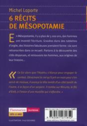 6 récits de Mésopotamie - 4ème de couverture - Format classique