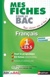 telecharger Mes Fiches Abc Du Bac T.4 – Francais – 1eres L, Es, S livre PDF en ligne gratuit