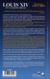 Louis XIV et le grand siècle - 4ème de couverture - Format classique
