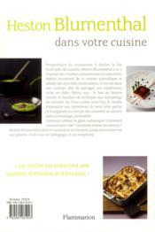 Heston Blumenthal dans votre cuisine - 4ème de couverture - Format classique