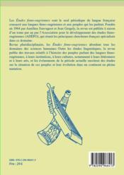 Etudes Finno-Ougriennes T.43 - 4ème de couverture - Format classique
