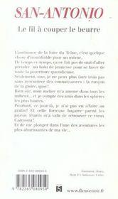 San-Antonio t.18 ; le fil à couper le beurre - 4ème de couverture - Format classique