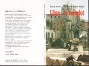 Liban ; le complot - Couverture - Format classique