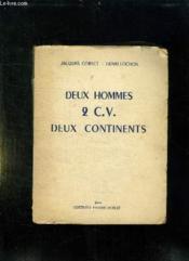Deux Hommes 2 Cv Deux Continents. - Couverture - Format classique