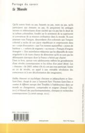 Révoltes postcoloniales au coeur de l'Hexagone ; vois d'adolescentes - 4ème de couverture - Format classique