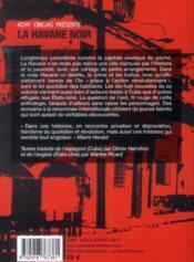 La Havane noir - 4ème de couverture - Format classique