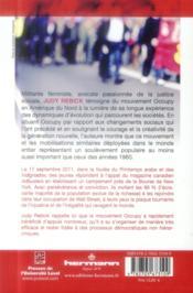 Le mouvement occupy - 4ème de couverture - Format classique