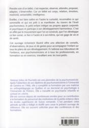 Eveil Psychomoteur Du Tout Petit - 4ème de couverture - Format classique