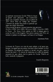 Tzigane le poème gitan - 4ème de couverture - Format classique