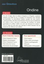 Ondine - 4ème de couverture - Format classique