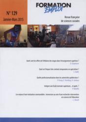 PROSPECTIVE FORMATION EMPLOI N.129 ; pêle mêle - Couverture - Format classique